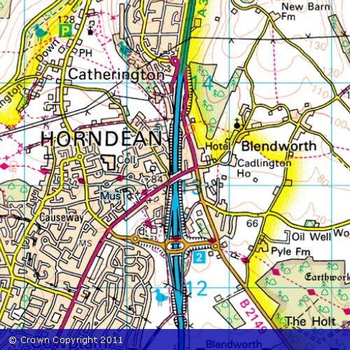 OS map of Horndean
